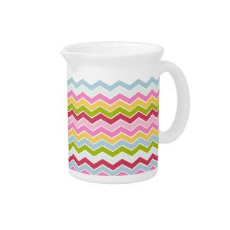 Zigzag multicolor del galón jarras para bebida