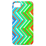 Zigzag multicolor funda para iPhone 5 barely there