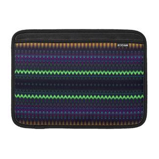 """Zigzag multicolor y 11"""" rayado funda  MacBook"""