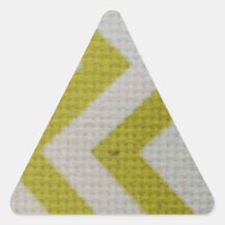 zigzag mustard yellow white pattern woven elegant triangle stickers