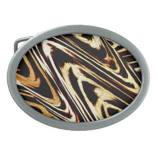 Zigzag of Tiger 2013 Bro Animal Chevron Pattern Oval Belt Buckle