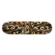 Zigzag of Tiger Bro Animal Chevron Pattern Skateboard