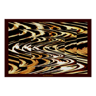 Zigzag of Tiger Cool Nature Animal Chevron Pattern Poster