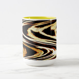 Zigzag of Tiger Girly Animal Chevron Pattern Two-Tone Coffee Mug