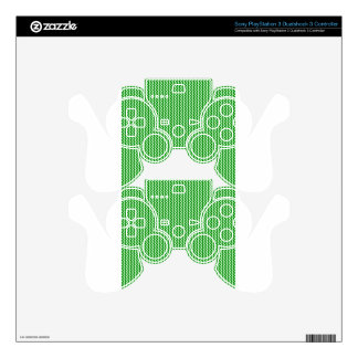 Zigzag - Offwhitegreen and Green PS3 Controller Decal
