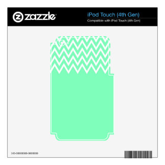 Zigzag On Mint iPod Touch 4G Decal