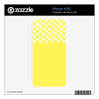 Zigzag On Yellow Skin For iPhone 4