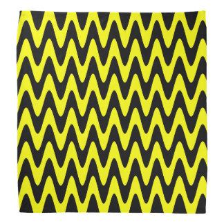 Zigzag ondulado negro y amarillo bandanas
