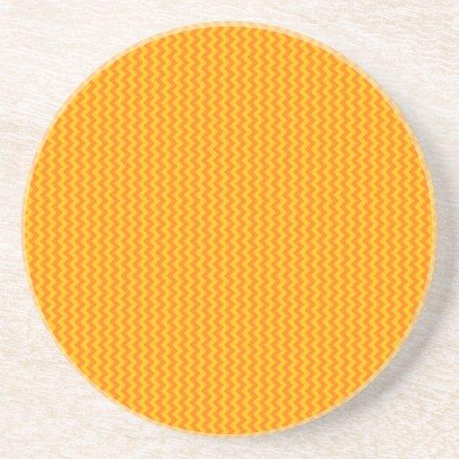 Zigzag - Orange and Amber Coaster
