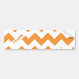 ZigZag Orange Car Bumper Sticker