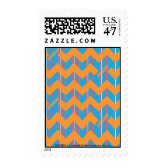 ZigZag Orange Postage Stamp