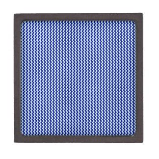 Zigzag - Pale Blue and Navy Blue Premium Trinket Boxes