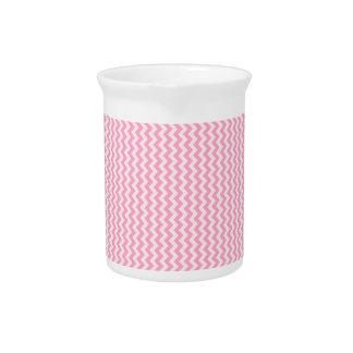 Zigzag - palidezca - rosa y rosa del clavel jarra de beber