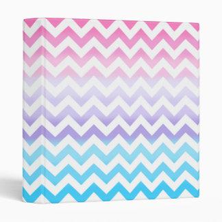 Zigzag Pastel Ombre Vinyl Binders