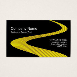 ZigZag Path - Cymbal Path - on Black Business Card