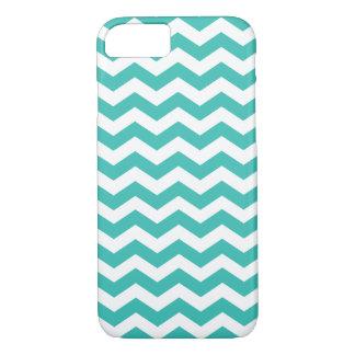 Zigzag Pattern Aqua Blue Chevron iPhone 7 Case