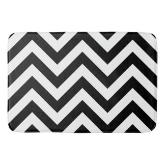Black And White Bath Mats Rugs Zazzle - Black and white harlequin bath mat for bathroom decorating ideas