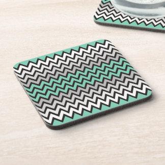 ZIGZAG pattern - black white grey + your idea Drink Coasters
