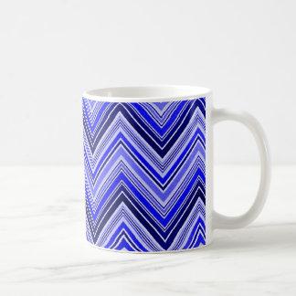 Zigzag Pattern - Blue Coffee Mug