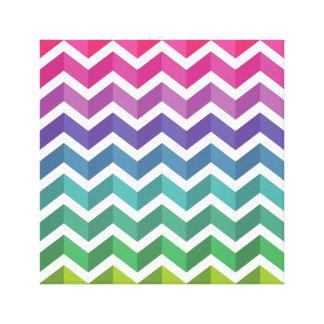 Zigzag Pattern Canvas Print