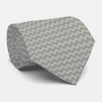 Zigzag Pattern, Chevron Pattern - Gray Tie