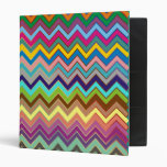 ZIGZAG pattern - colored + your ideas 3 Ring Binder