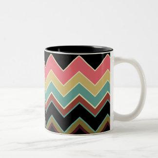 ZigZag Pattern Designer Decor Mug - Baja Style