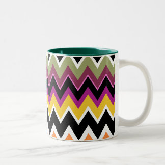ZigZag Pattern Designer Decor Mug - LaJolla Style