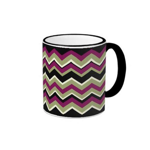 ZigZag Pattern Designer Decor Mug - Sonoma Style