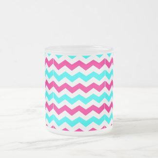 Zigzag Pattern Frosted Glass Mug