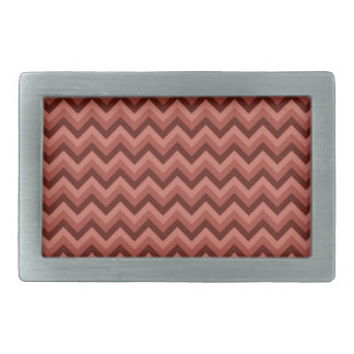 Zigzag Pattern in Cool Shades of Red Belt Buckles