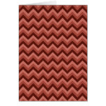 Zigzag Pattern in Cool Shades of Red Greeting Cards