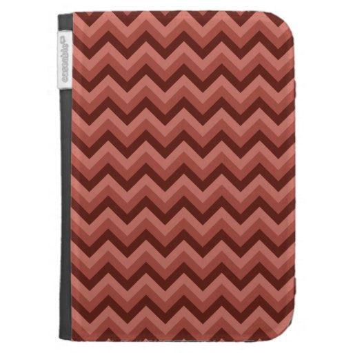 Zigzag Pattern in Cool Shades of Red Kindle Keyboard Cases