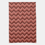 Zigzag Pattern in Cool Shades of Red Hand Towel