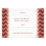 Zigzag Pattern in Cool Shades of Red Personalized Invite