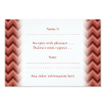"""Zigzag Pattern in Cool Shades of Red 3.5"""" X 5"""" Invitation Card"""