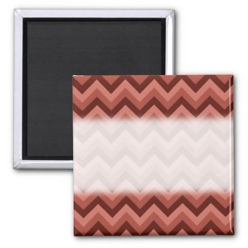 Zigzag Pattern in Cool Shades of Red Refrigerator Magnets