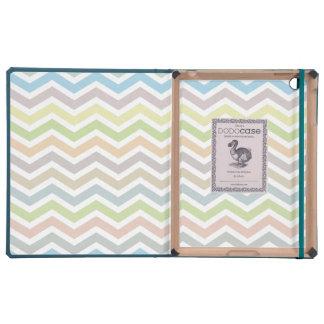 Zigzag Pattern iPad case - soft colors