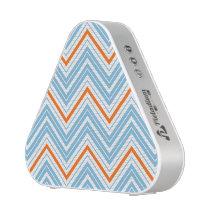 Zigzag Pattern Orange White & Blue Bluetooth Speaker