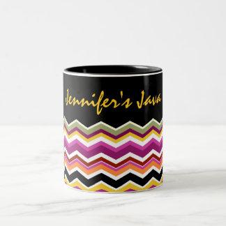 ZigZag Pattern Personalized Designer Decor Mug