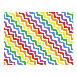 ZigZag Pattern Rainbow Postcard