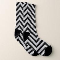 Zigzag pattern socks