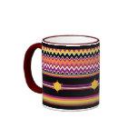 ZigZag Pattern Southwest Style Ringer Mug