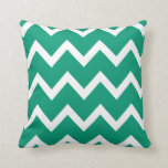 Zigzag Pillow with Emerald Green Chevron