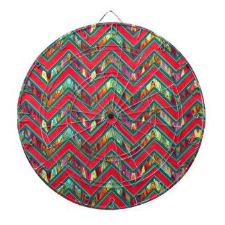 Zigzag psicodélico de moda colorido tablero de dardos