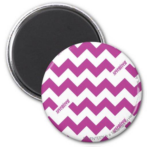 ZigZag Purple 2 Inch Round Magnet
