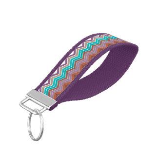 ZigZag Purple, Blue, Orange Wrist Band Key Chain
