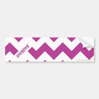 ZigZag Purple Car Bumper Sticker