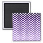 Zigzag Purple Chevron Pattern 2 Inch Square Magnet
