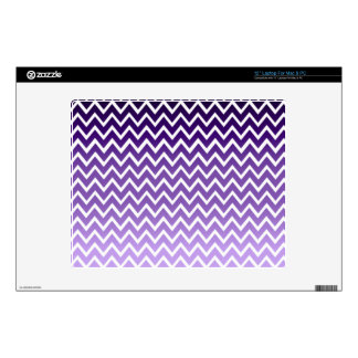 "Zigzag Purple Chevron Pattern Decal For 12"" Laptop"